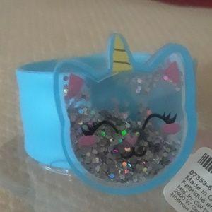 Unicorn cat slap bracelet.  Bx20-2016